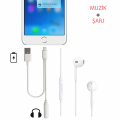 İphone 7- 7 Plus Lighting 3.5mm Kulaklık Jak+usb Adaptörü