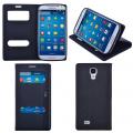 Ally Galaxy S4 Standlı Mıknatıslı Pencereli Kılıf