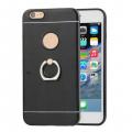 İPhone 7-İPhone 8-İphone SE 2020 Kılıf Selfie Yüzüklü Arkası Metal Silikon Kılıf