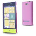 HTC WİNDOWS PHONE 8S SERT PLASTİK KILIF PEMBE