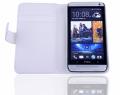 HTC ONE M7 BEYAZ MIKNATISLI KART BÖLMELİ CÜZDAN KILIF .