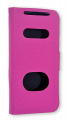 HTC ONE V G24 İNCE KAPAKLI PEMBE KILIF