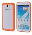 Ally Galaxy Note 2 N7100 Transparan Bumper Kılıf Turuncu