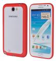 Ally Galaxy Note 2 N7100 Transparan Bumper Kılıf Kırmızı