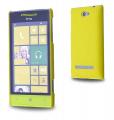 HTC WİNDOWS PHONE 8S SERT PLASTİK KILIF SARI