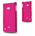 Nokia Lumia 720 Sert Plastik Kılıf Fuşya