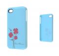 İphone 4 - İphone 4s Çiçek Desenli Kılıf Turkuaz