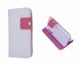 İphone 4g-4gs Cüzdan Kılıf New Fashion Beyaz Fuşya