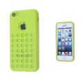 Apple İphone 5c Delikli Silikon Kılıf Yeşil .