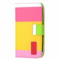 Ally Galaxy S4 İ9500 Rainbow Cüzdan Kılıf (beyaz Pembe Sarı Yeşil)