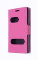 LG OPTİMUS L5 DUAL E610-615 İNCE KAPAKLI KILIF PEMBE