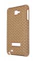 Ally Galaxy Note N7000-i9220 Kahverengi Düğüm Desenli Sert Kauçuk Kılıf