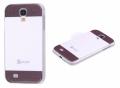Ally Galaxy S4 İ9500 Kareye Kahve Beyaz Renkli) Silikon Şeffaf Kılıf