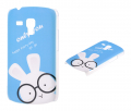 Ally Galaxy S Duos Gt S7562 Tavşan Desenli Plastik Kılıf