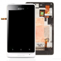 SONY XPERIA GO ST27İ DOKUNMATİK LCD EKRAN VE ON PANEL BEYAZ .