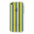 İphone 5c Sarı Lacivert Renkli Silikon Şeffaf Kılıf