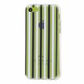 İphone 5c Siyah Beyaz Renkli Silikon Şeffaf Kılıf