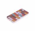 İphone 5-5s Renkli Kiremit Desenli Silikon Şeffaf Kılıf