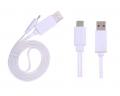 Ally Universal Led Işıklı Şarj Micro Usb Kablo Beyaz .