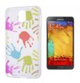 Ally Galaxy Note 3 N9000 El İzi Desenli Şeffaf Silikon