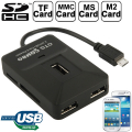 ALLY 5İN1 MİCRO TF.MS.SD USB KART OKUYUCU 3XUSB OTG PORT