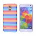 Ally Galaxy S5 İ9600 G900 Gök Kuşağı Desenli Silikon Kılıf