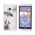 HTC ONE M7 ÇİÇEK DESENLİ PLASTİK KILIF