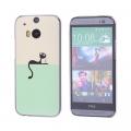 HTC ONE M8 KEDİ DESENLİ PLASTİK KILIF