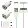 İPHONE EV ARAÇ 3İN1 USB ŞARJ SETİ