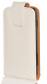 Ally Galaxy Ace Plus S7500 Beyaz Kapaklı Kılıf