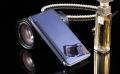 Ally Samsung Galaxy A8 İçin Şeffaf Ön Kapaklı Pencereli Aynalı Kılıf