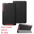 Acer Iconia One 8 B1-820 Gizli Mıknatıslı Standlı Ultra İnce Deri Kılıf