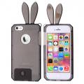 İPhone 6-İPhone 6S Tavşan Kulaklı Silikon Kılıf