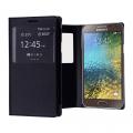 Ally Samsung Galaxy E7 İçin Pencereli Flip Cover Kılıf