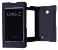Nokia Lumia 630 Tam Pencere Flip Cover Kapaklı Kılıf