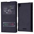Sony Xperia T3 Pencereli Flip Cover Kılıf