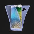 Ally Samsung Galaxy E7 İçin 360 Koruma Silikon Kılıf
