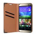 HTC ONE M8 TAŞLI STANDLI CÜZDAN KILIF