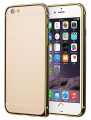 İlove İPhone 6,6s Gold Çizgili Metal Round Bumper Kılıf