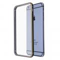 İPhone 6S Plus -6 Plus Metal Bumper  Kılıf Arka Korumalı Şeffaf Kapak Çerçeve Kılıf