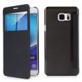 Ally Samsung Galaxy S6 Edge Plus İçin Şeffaf Arka Kapaklı Pencereli Flip Cover Kılıf
