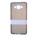 Ally Samsung Galaxy A5 İçin Standlı Şeffaf Silikon Kılıf
