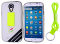 Ally Galaxy S4  İ9500 Boyun Askili Seffaf Silikon Kılıf
