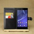 Sony Xperia T3 Standlı Cüzdan Kılıf
