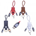 USB C TYPE C USB DERİ ANAHTARLIK KISA USB ŞARJ KABLO