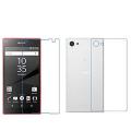Sony Xperia Z5 Mini Compact Kırılmaz Ön Ve Arka Cam Ekran Koruyucu