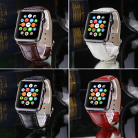 ALLY APPLE WATCH İÇİN 42MM DERİ KORDON KAYIŞ CROCODİLE