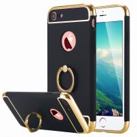 İPhone 7-İPhone 8-İPhone SE 2020 Kılıf Selfie Yüzüklü Metal Kılıf