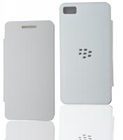 Blackberry Z10 Flip Cover Kılıf Beyaz