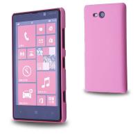 Nokia Lumia 820 Sert Plastik Kılıf Pembe